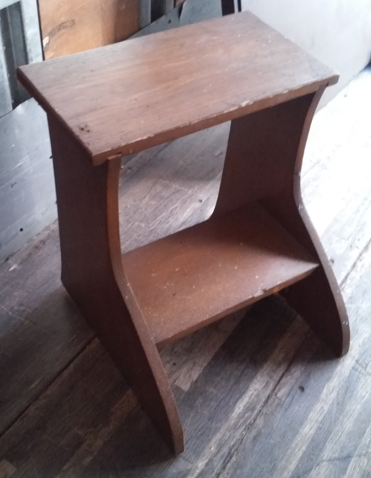 Uhuru Furniture Collectibles Sold Vintage Wooden Step