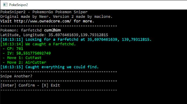 Cara Menggunakan PokeSniper2 1.10 Untuk Menangkap Pokemon Rare