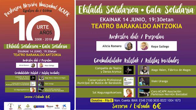 Gala solidaria de la asociación contra el párkinson