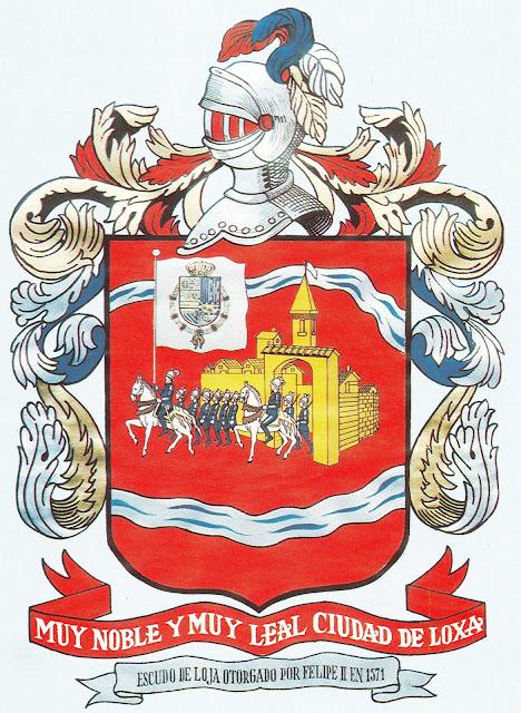 Escudo del Loja Ecuador of 1571 Coat of Arms city emblem