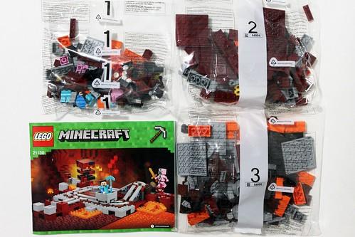 LEGO Minecraft 21130 Đường ray thám hiểm địa ngục