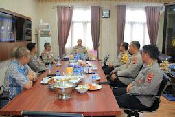 Refdi Andri dan PJU Polda Maluku Bahas Program Kerja Tahun 2021