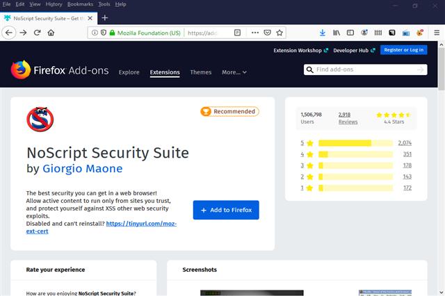تنزيل إضافة نوسكربت لحماية الخصوصية وتصفح الأنترنت بكل أمان مجانا
