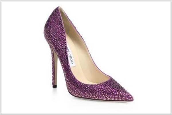 Sydney Fashion Hunter - Perfectly Purple - Jimmy Choo Purple Swarovski Pumps