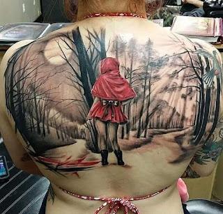 Tatuaje de Caperucita Roja Sexy