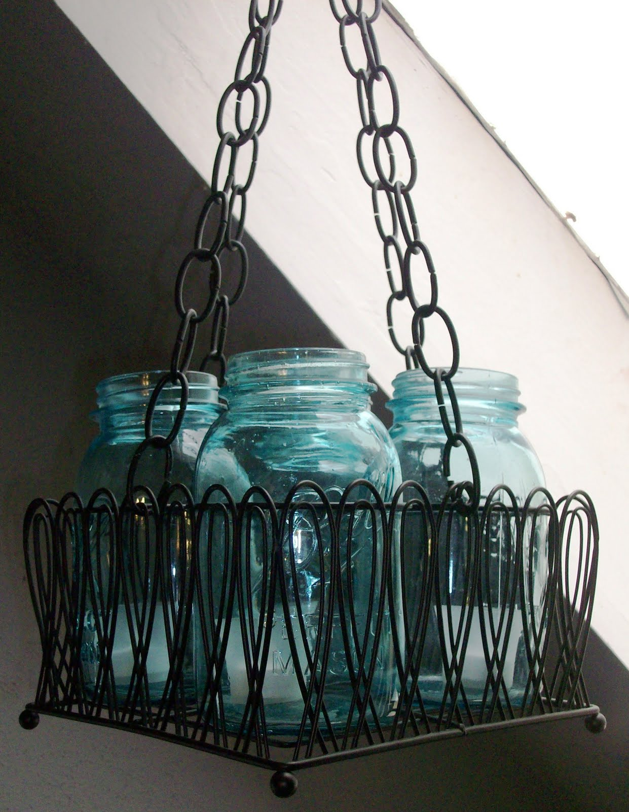 One Of My Favorites For A Long Time Has Been The Chandeliers Made With Blue Ball Mason Jars I Ve Working On This While What Do You Think