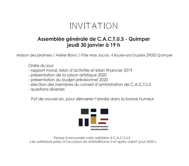 Assemblée générale de C.A.C.T.U.S Quimper