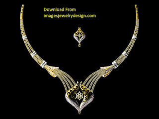 Jewelry gold necklace set design images