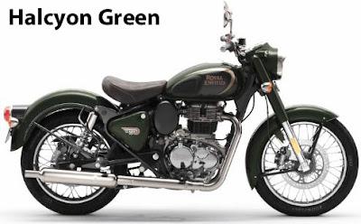Royal Enfield Classic 350 Halcyon Green.