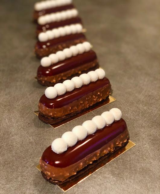 chic éclair silikomart chocolat glaçage miroir rocher
