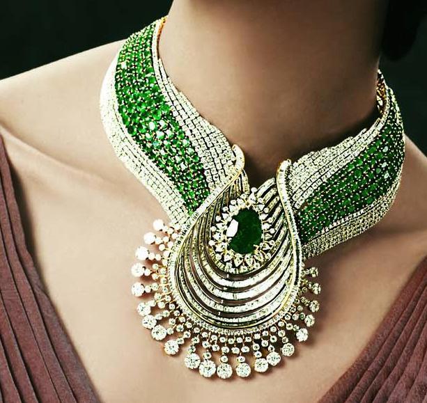 Gold and Diamond jewellery designs TBZ original gorgeous designer