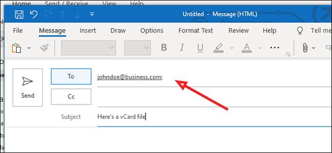 عنوان بريد الكتروني