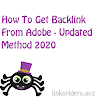 How To Get Backlink For Free From Adobe | Updated Method 2020