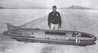 harley davidson xlr streamliner at bonneville with cal rayborn
