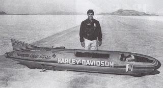 harley davidson xlr streamliner at bonneville with cal rayborn