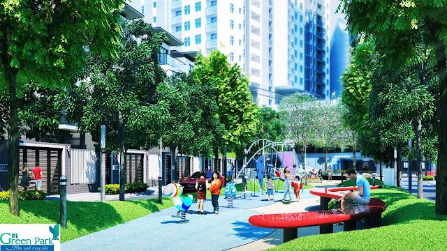 Không gian sống xanh tại PD Green Park