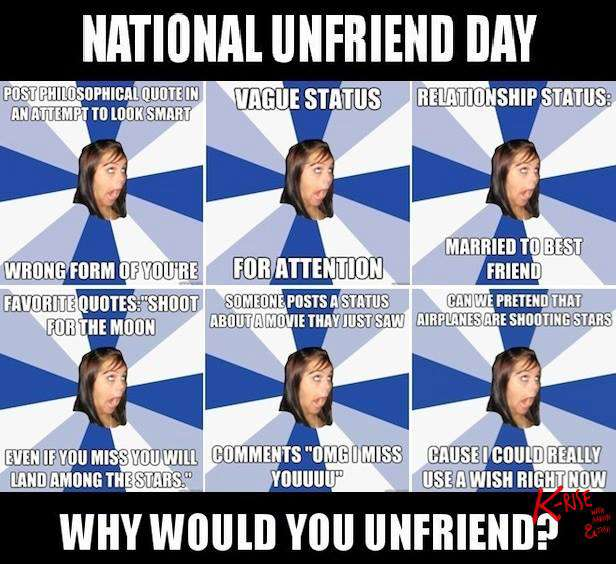 National Unfriend Day Wishes