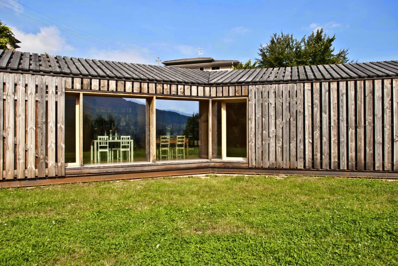 Casa in legno passiva per famiglia