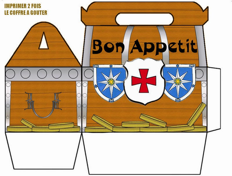 Treasure Chest Free Printable Lunch Box Oh My Fiesta! in english