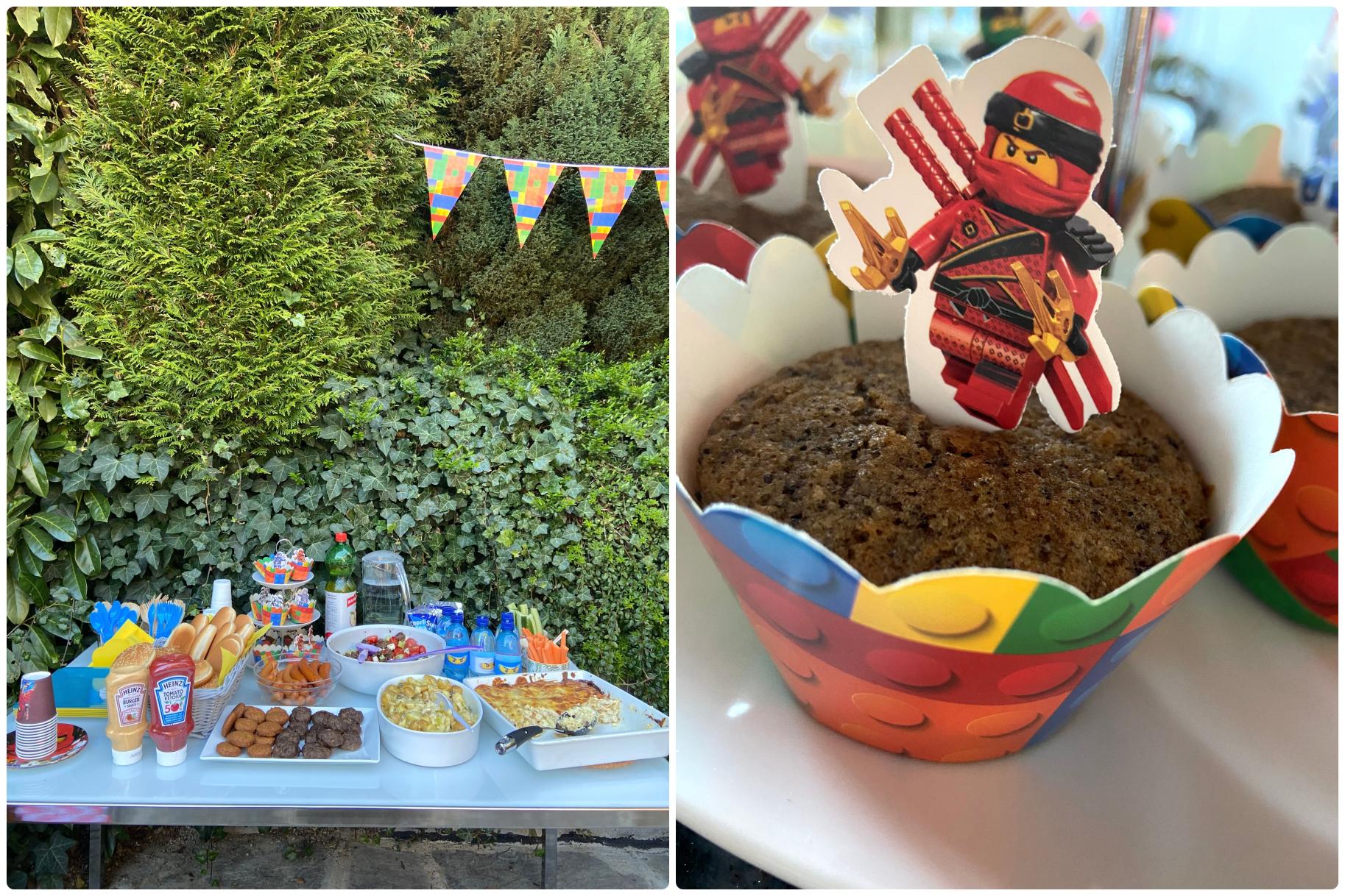 μενού παιδικό πάρτυ κήπος άνοιξη lego ninjago party