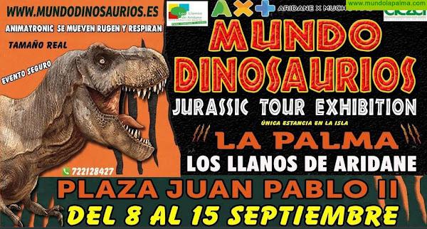 Mundo Dinosaurios, Jurassic Tour Exhibition, llega a Los Llanos de Aridane