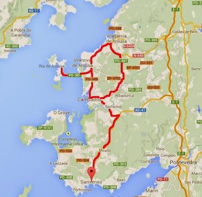 Ruta en coche por Arousa Rías Baixas