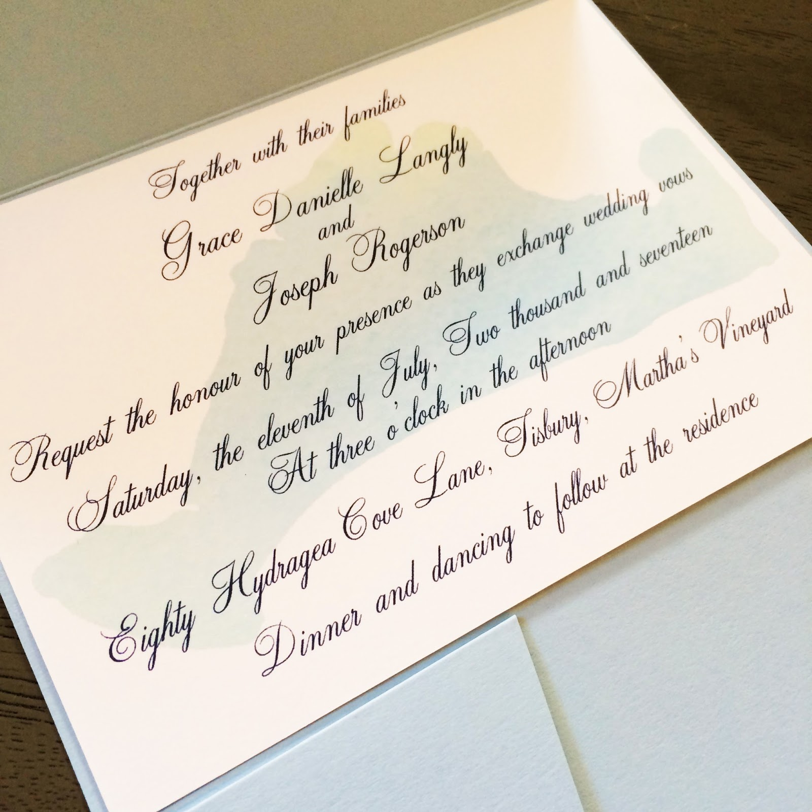 Wedding Invitation Order for luxury invitation example