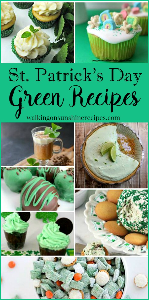 Party: St. Patrick Day Green Recipes and Delicious Dishes Party from Walking on Sunshine.