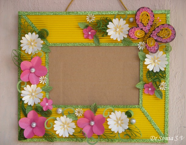 Cards crafts kids projects paper flowers on handmade photoframe mightylinksfo