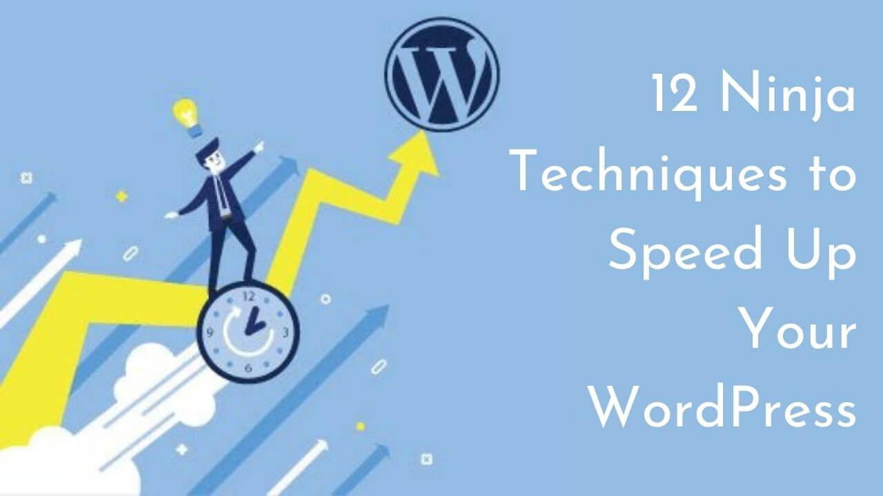 12 Ninja Techniques of WordPress Speed Optimization