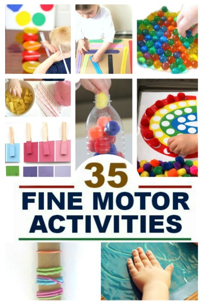 FINE MOTOR ACTIVITIES FOR KIDS (35 simple ideas!) #finemotoractivitiesforkids #finemotoractivitiesforpreschoolers #finemotoractivities #preschoolactivities #activitiesforkids