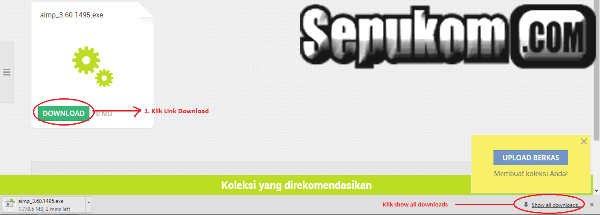 Klik show all downloads