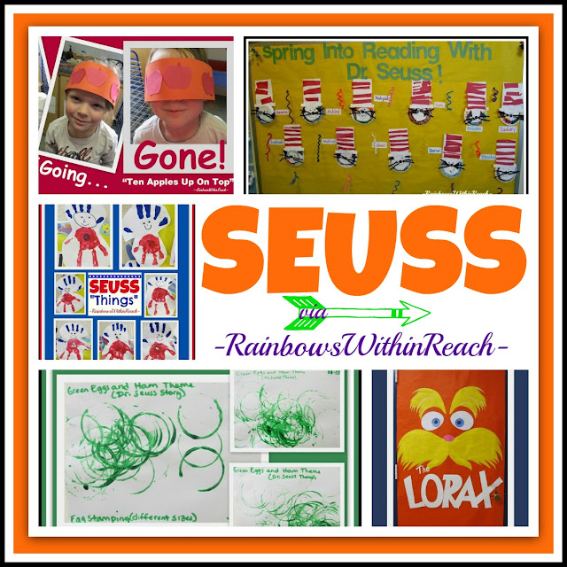Dr. Seuss RoundUP of Ideas via RainbowsWithinReach