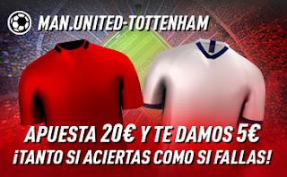 sportium promo United vs Tottenham 4 diciembre 2019