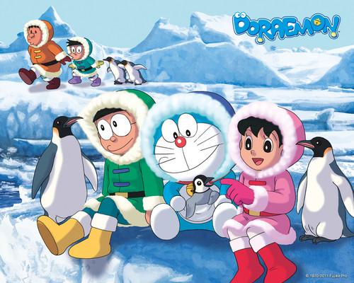 Doraemon And His Friends In Antarctica HD Wallpapers