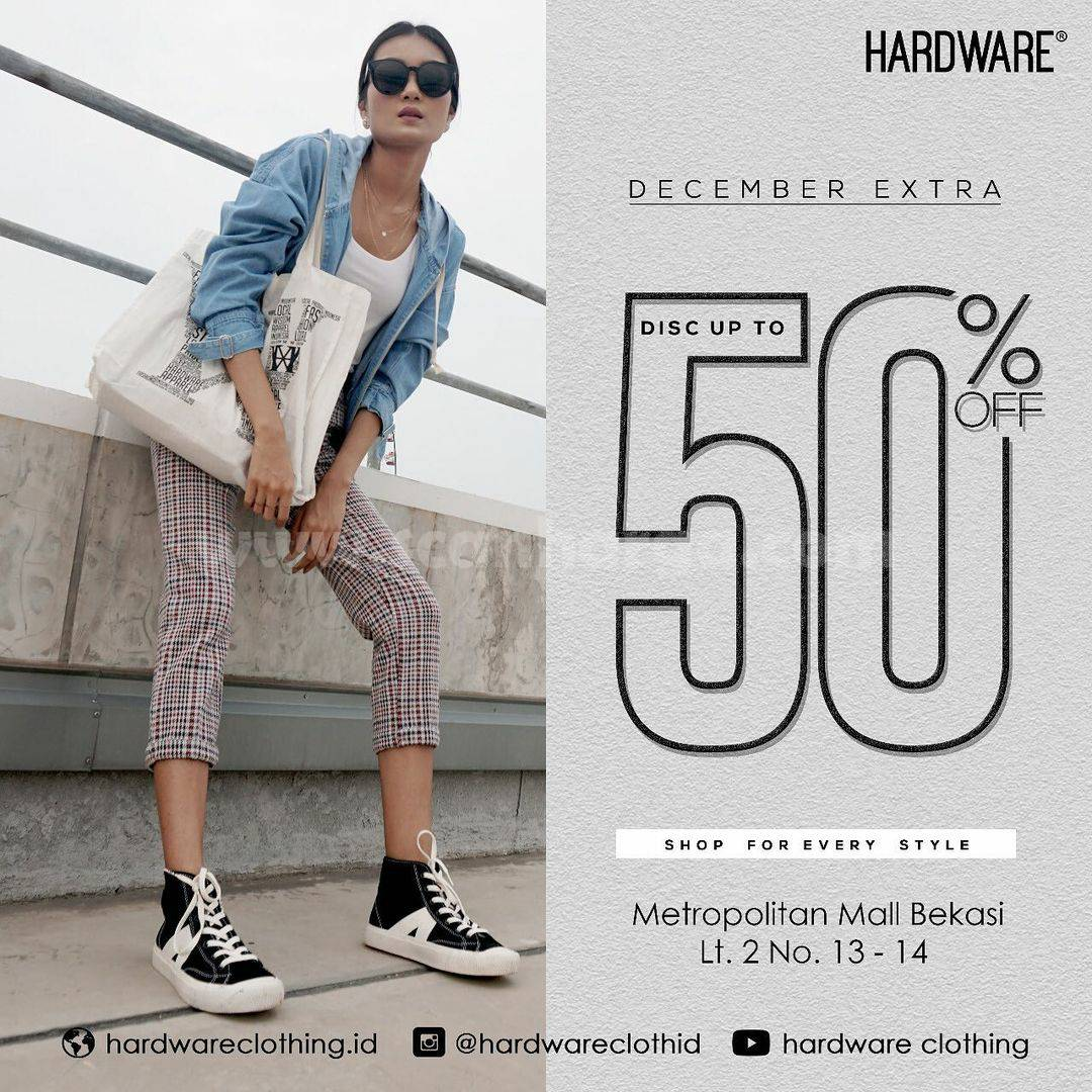 Hardware Clothing December Extra Discount up to 50% Off*