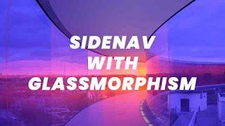 sidenav glassmorphism