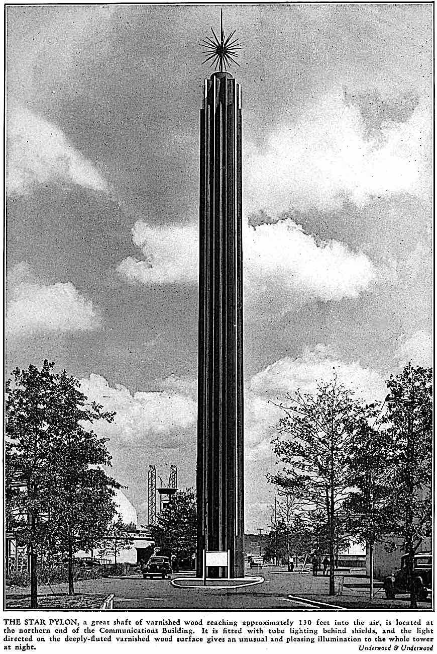 the 1939 New York Worlds Fair Star Pylon