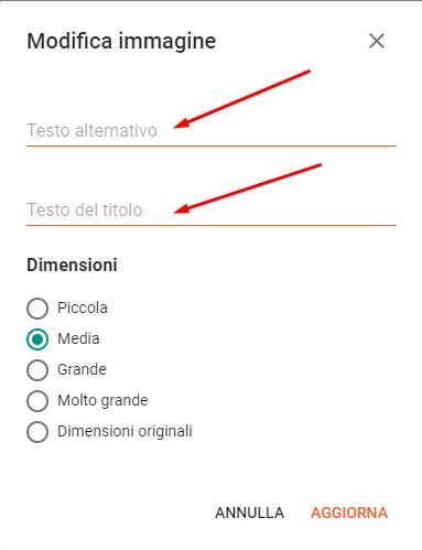 Procedura di inserimento attributi ALT e Tittle alle immagini in Blogger