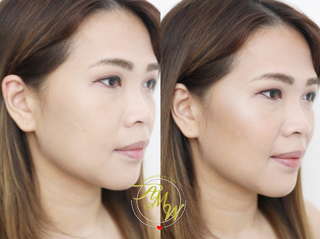 before and after photo of MakeUp World Complete Contour Palette Review