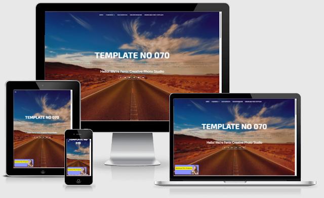 fenix portfolio premium blogger template