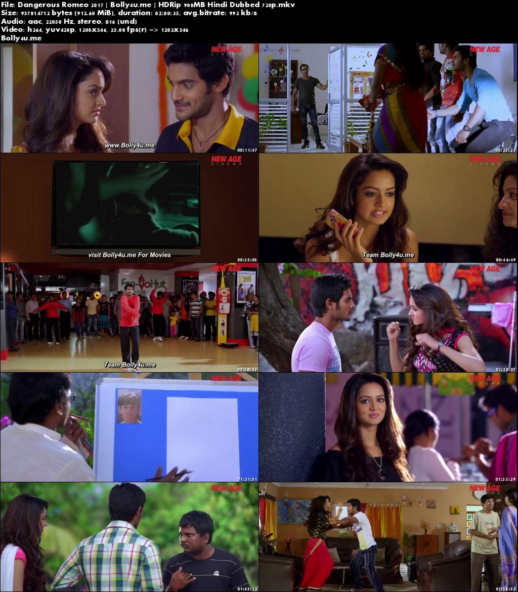 Dangerous Romeo 2017 HDRip 900MB Hindi Dubbed 720p Download