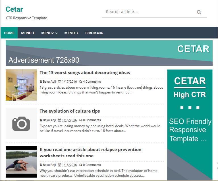 xml templates for blogger free download - cetar high ctr responsive blogger template softdews