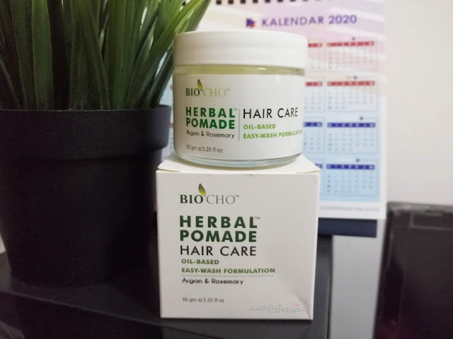 BioCho Herbal Pomade Dirumus Tanpa Bahan Kimia Untuk Rambut Sihat