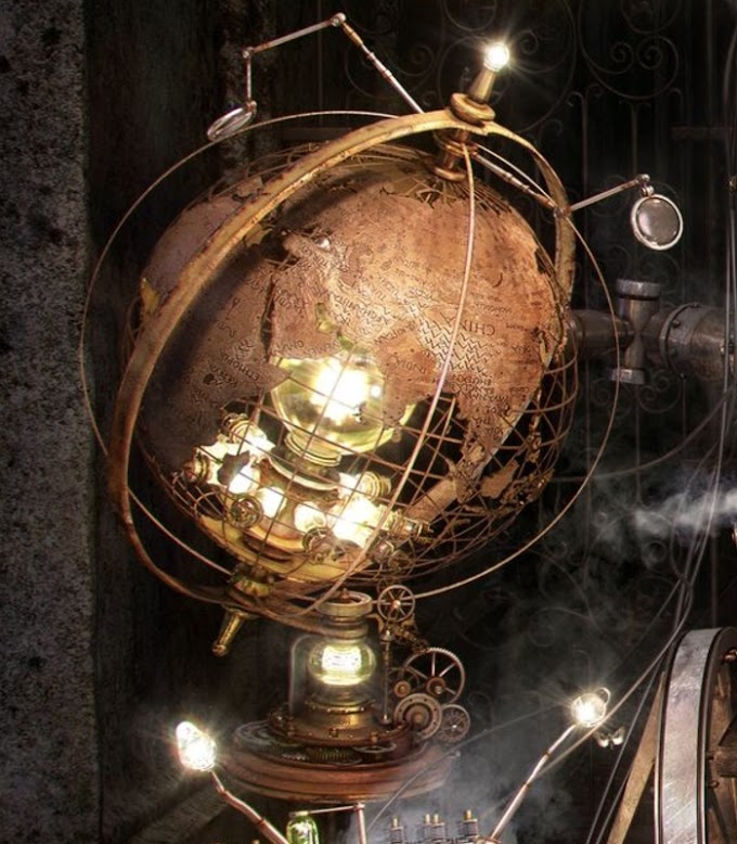 Steampunk Terrestrial Globe