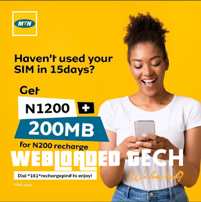 200 MB Data and MTN 1200 Airtime for 200 Naira