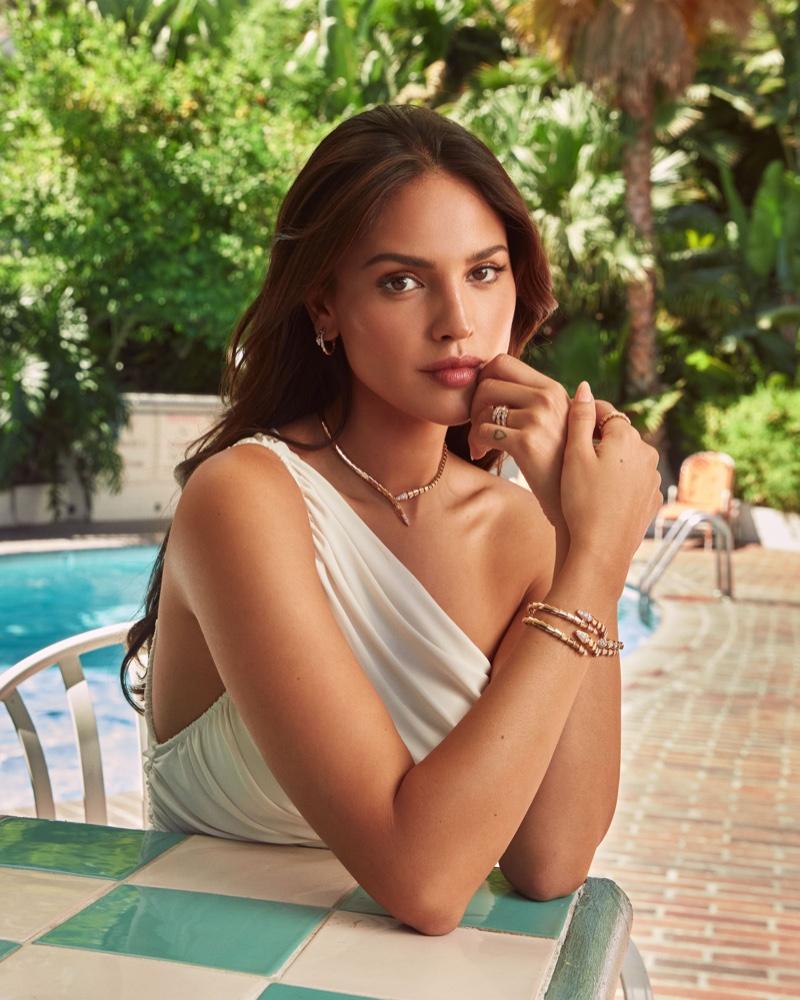 Eiza Gonzalez shines in Bulgari jewelry.