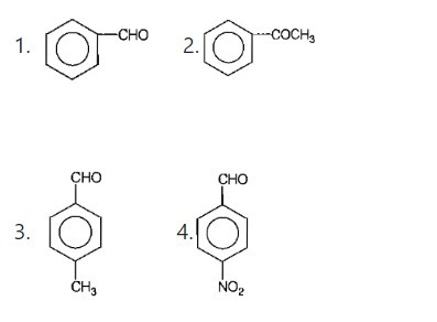 Which one is most reactive towards nucleophilic addition reaction  NEET 2014