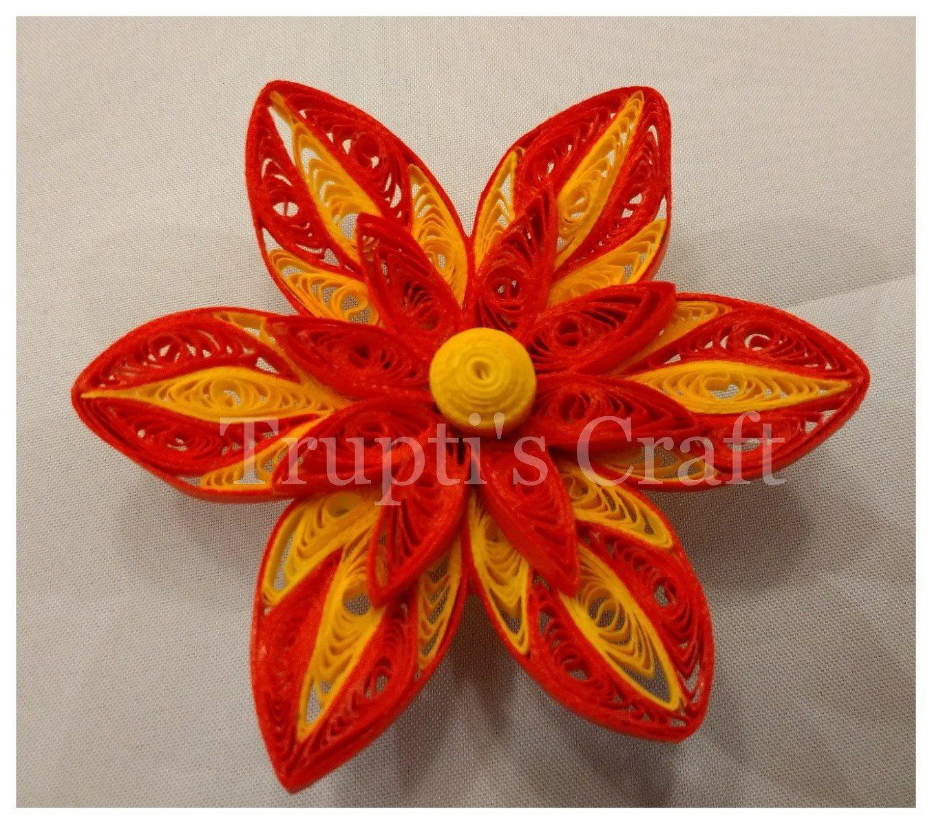 Truptis Craft Paper Quilling Flower Magnet