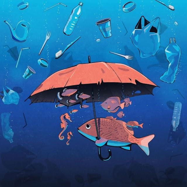 Pesta Plastik di Laut